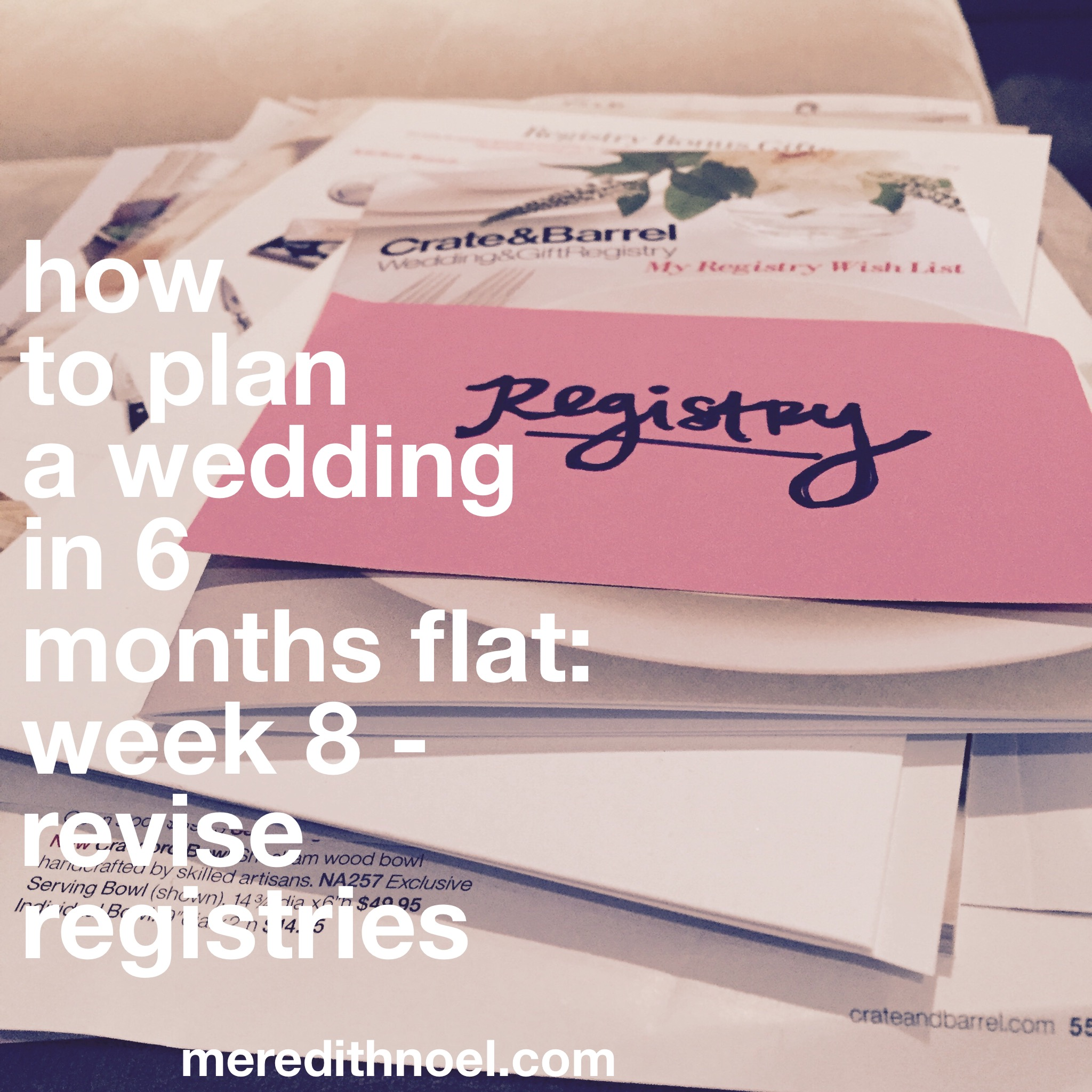 How To Plan A Wedding In 6 Months Flat: Week 8