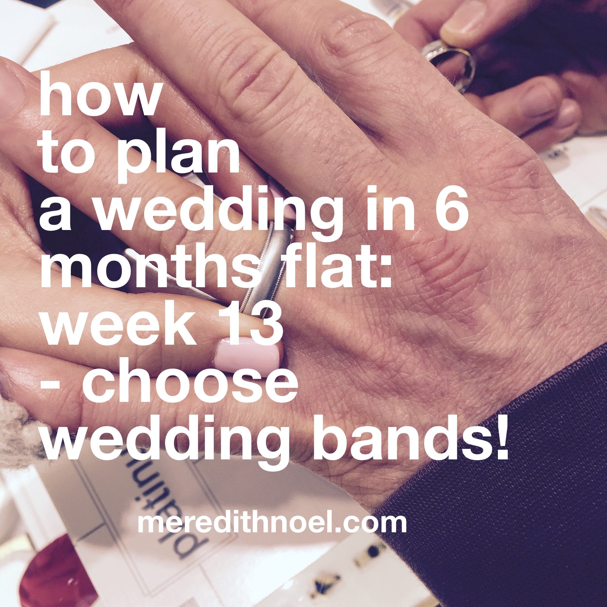 How To Plan A Wedding In 6 Months Flat: Week 13