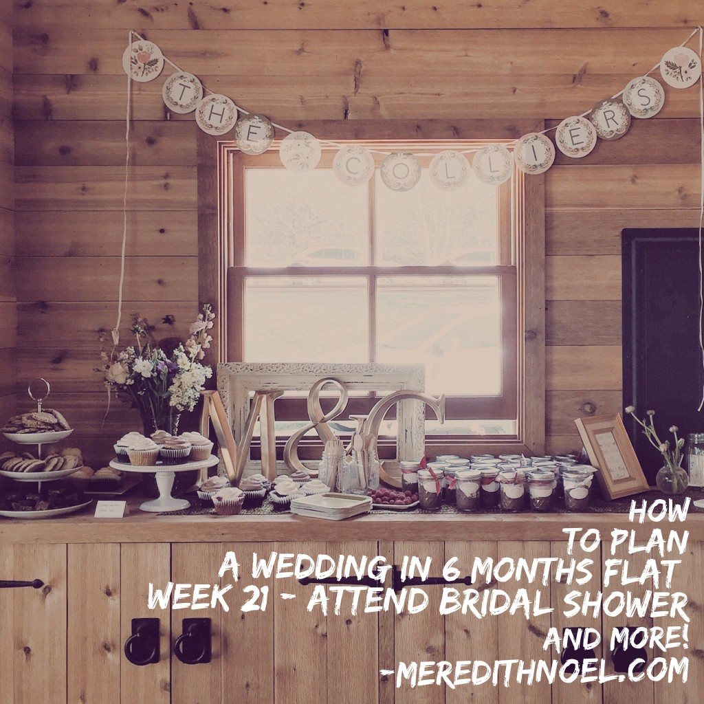 How To Plan A Wedding In 6 Months Flat: Week 21