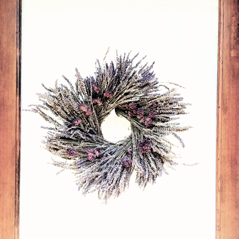 2014.7.25 dried lavendar and oregano wreath